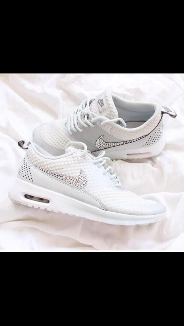 new concept 3670e 2afba ... closeout cute white nike shoes that comes with a sparkly nike logo to  give that sporty