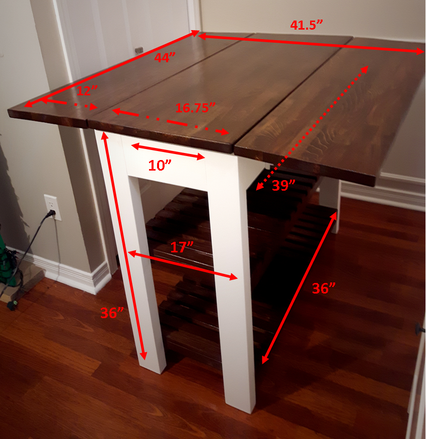 Diy Drop Leaf Kitchen Island Cart With Images Diy Kitchen Island
