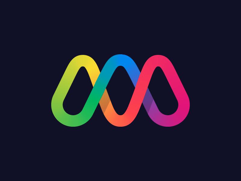 M Dna Logo Design Creative Education Logo Design Dna Logo