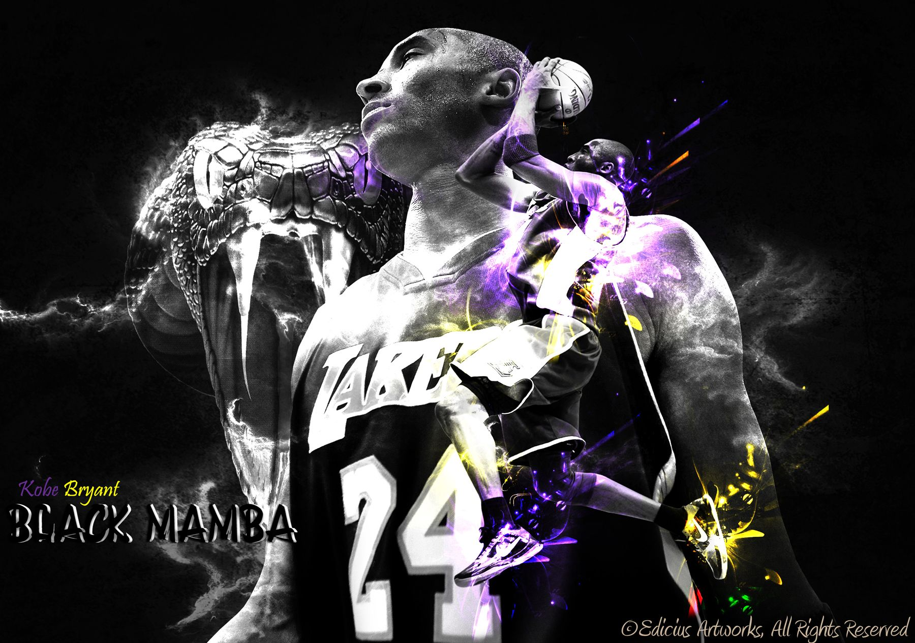 Kobe Bryant Black Mamba This Is By Far The Best Wallpaper I Have Done Kobe Bryant Black Mamba Kobe Bryant Wallpaper Black Mamba