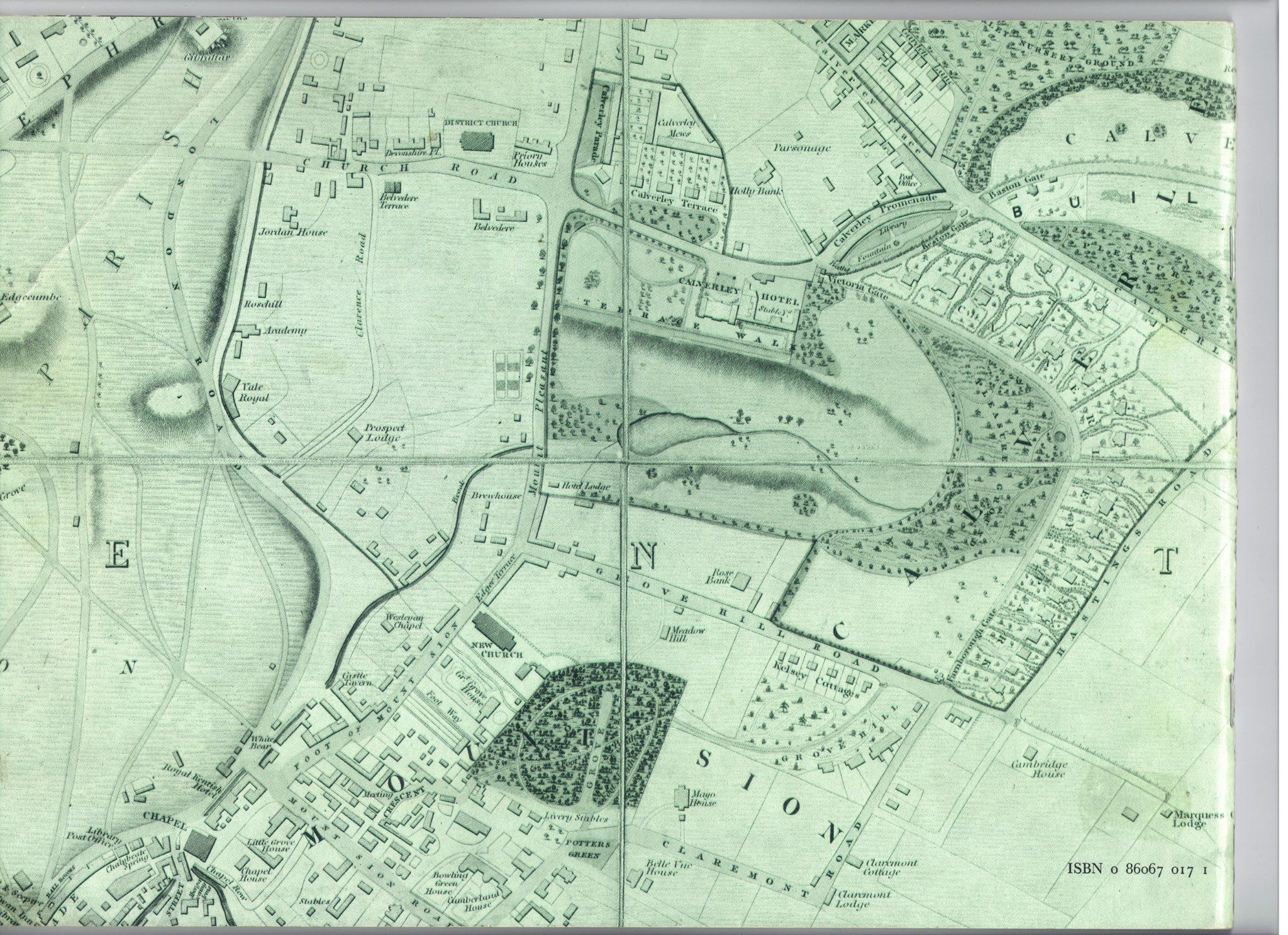 Tunbridge Wells map of 1838 shows several different road names