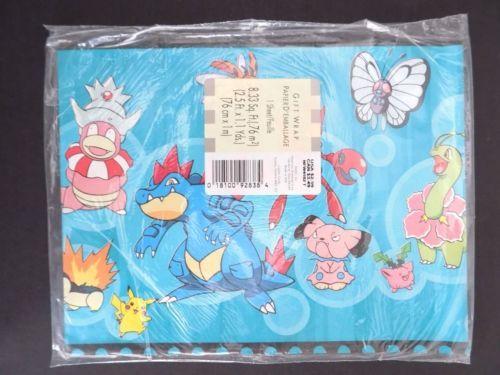 vintage pokemon wrapping paper sheet christmas retro | pokémon and