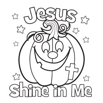 jesus shine in me coloring picture for halloween - Free And Fun Coloring Pages