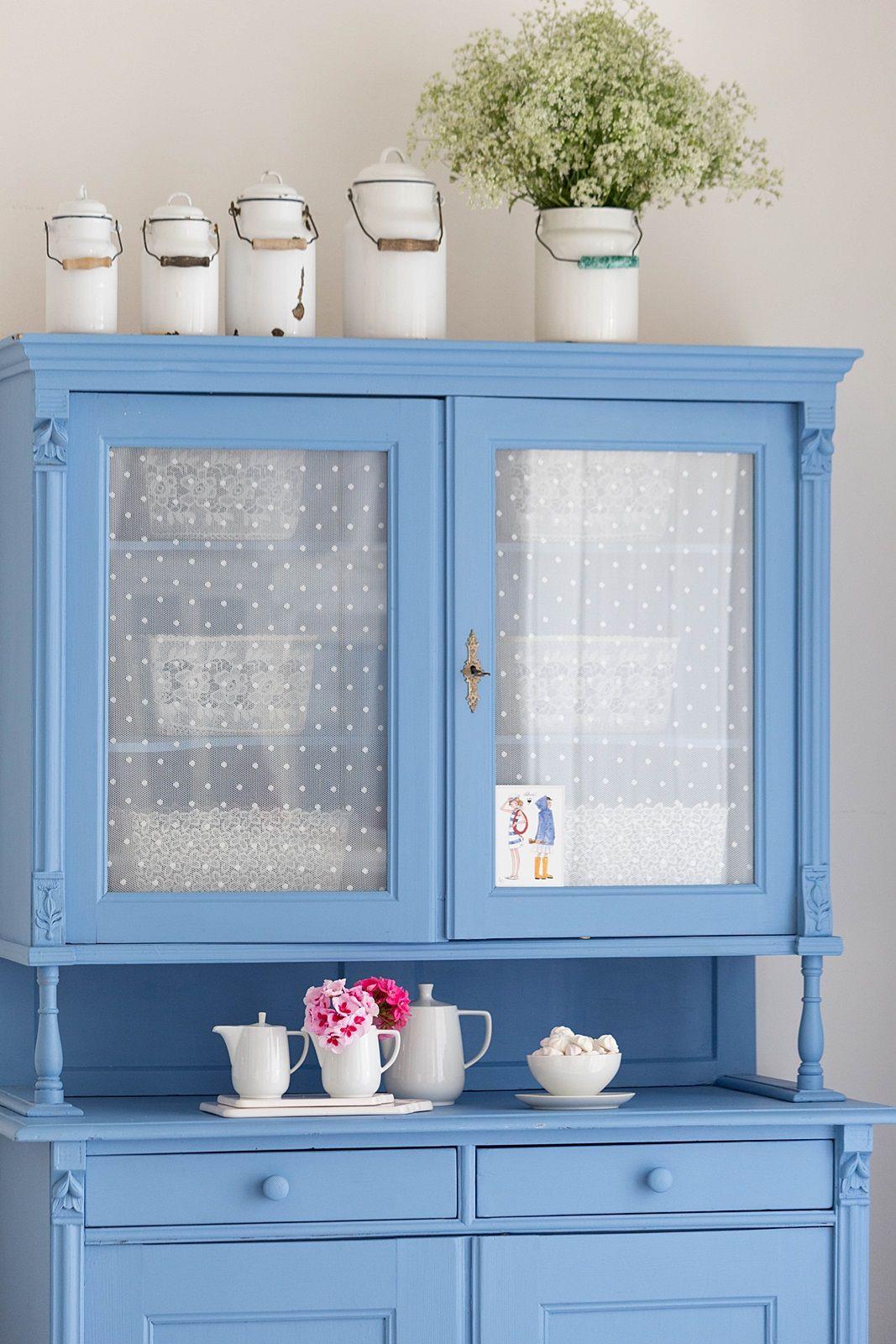 Vintage Küchenschrank in Shabby Blue | kreative Ideen für zu Hause ...