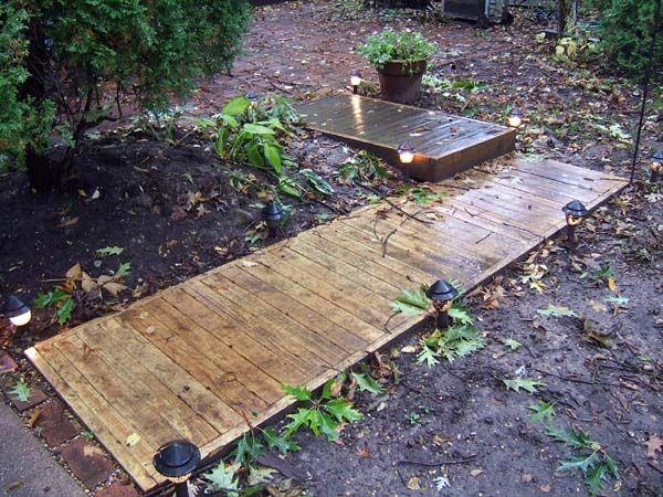 wooden path work n progress wood walkway wooden path walkway. Black Bedroom Furniture Sets. Home Design Ideas