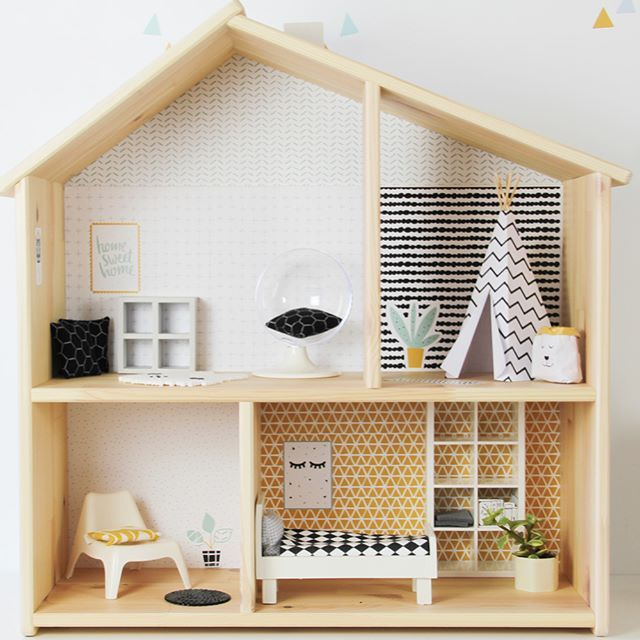 multifunktionstisch selber bauen f r kinder dollhouse maison playmobil poup e diy poup e. Black Bedroom Furniture Sets. Home Design Ideas