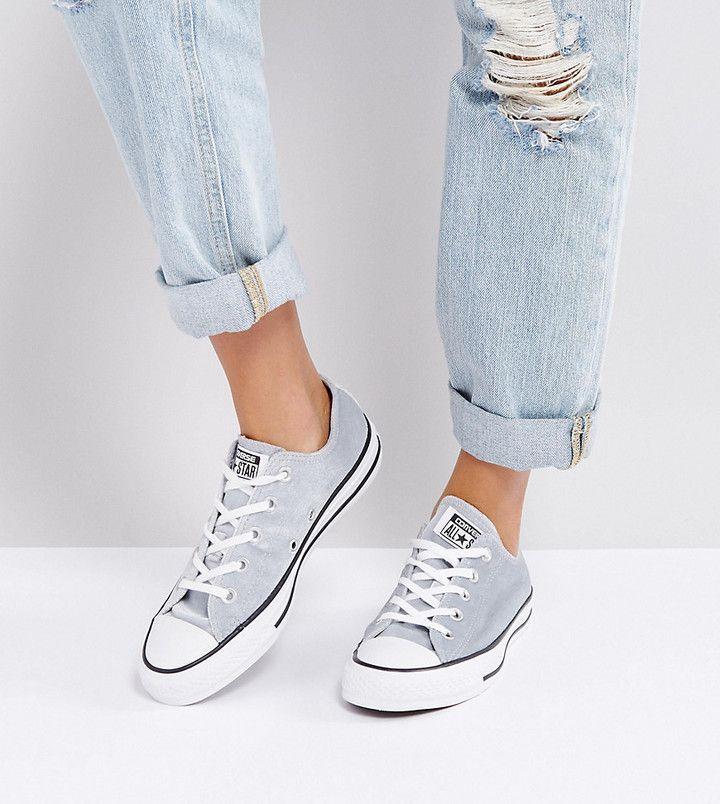 27ea7c428ffaab Converse Chuck Taylor Ox Sneakers In Gray Velvet