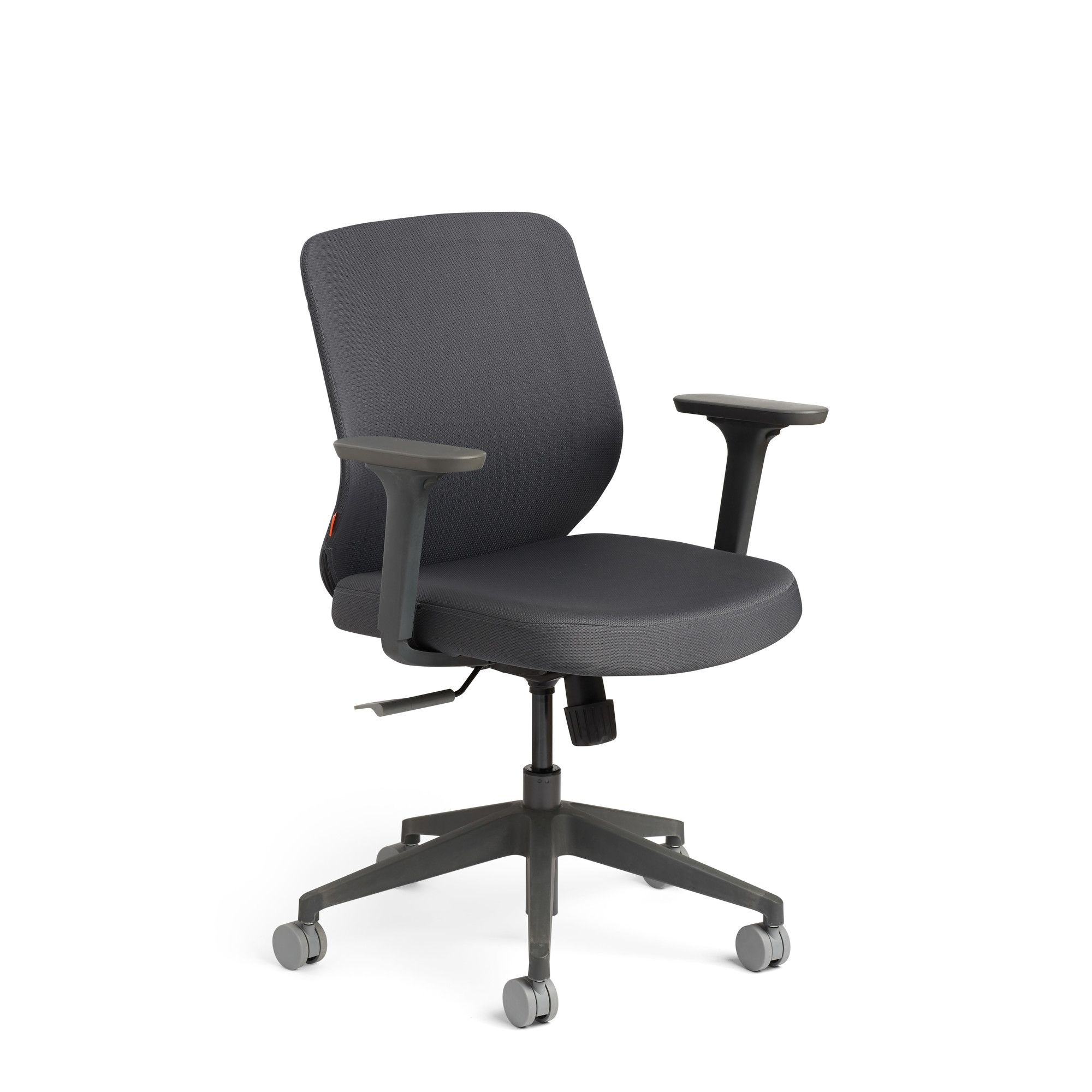 Dark Gray Max Task Chair Mid Back Charcoal Frame Office Chairs
