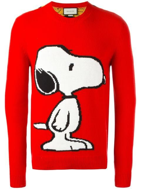 c0ab0108 GUCCI intarsia Snoopy jumper. #gucci #cloth #jumper | Gucci Men ...