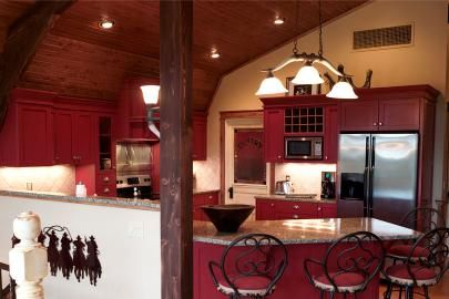 Apartment Kitchen above barn | On the Farm | Barn ...