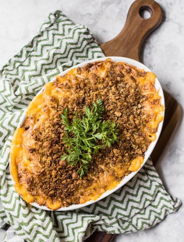 Gluten Free Mac and Cheese with Carrot Purée
