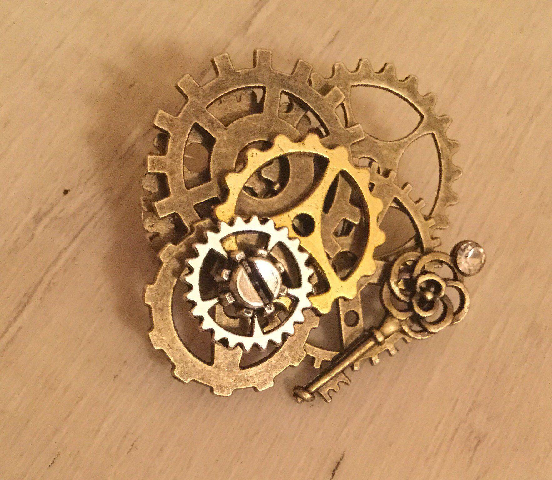 Gear SteamPunk Pin   Etsy   Steampunk, Steampunk gears, Steampunk ...