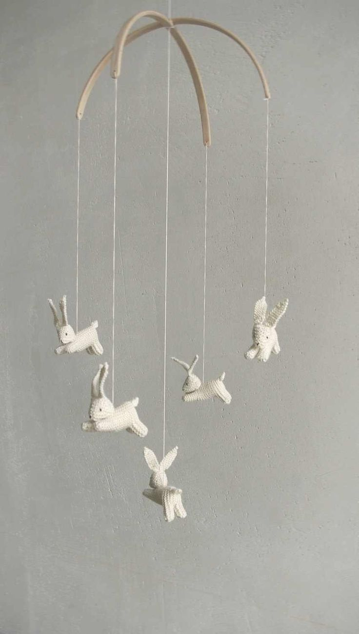 Nursery Mobile Baby Bunny Rabbit Made To Order