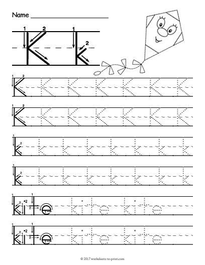 Free Printable Tracing Letter K Worksheet | Tracing letters ...