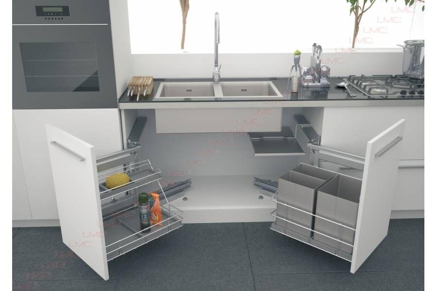 ensemble de sous vier pivotant bicarbonate de soude rangement cuisine evier et meuble sous. Black Bedroom Furniture Sets. Home Design Ideas