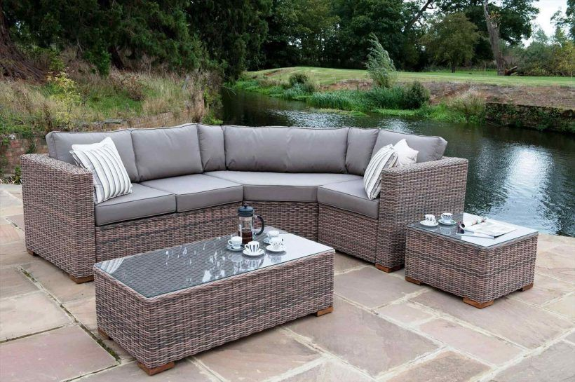 Leisure Zone 5Piece Patio Furniture Set Outdoor Sectional