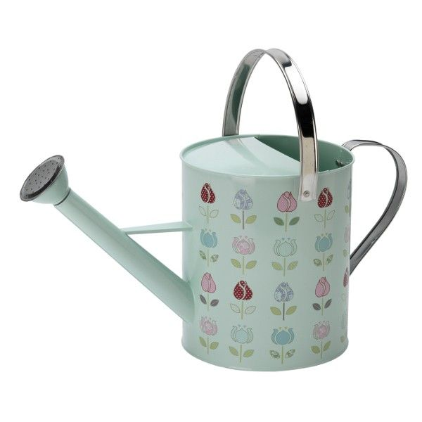 Decorative watering cans home tools watering can tulip for Gardening tools watering