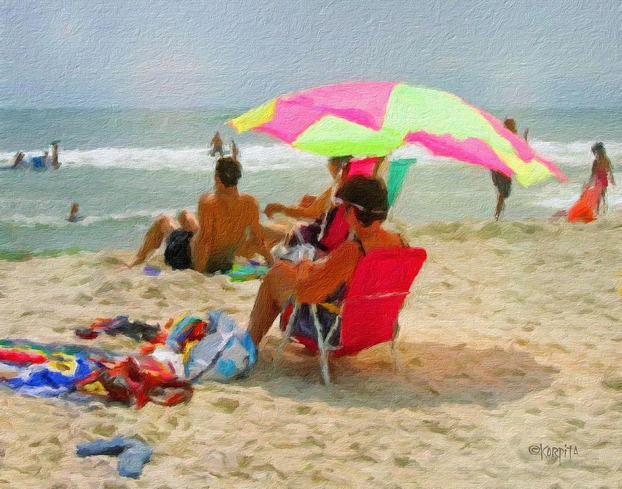 36d04dc331 Colorful Beach Scene Summer Day Photograph by Rebecca Korpita ...