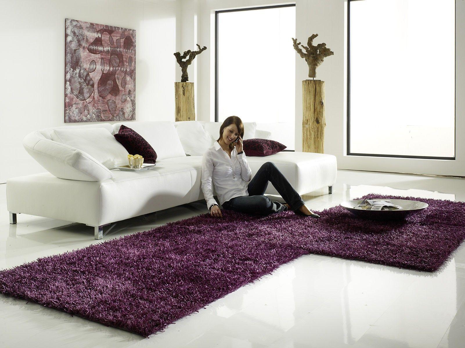 Gemütlich Relaxen Nach Der Gestaltung Teppich Al Mano Lila Teppich Warme Farben Relaxen