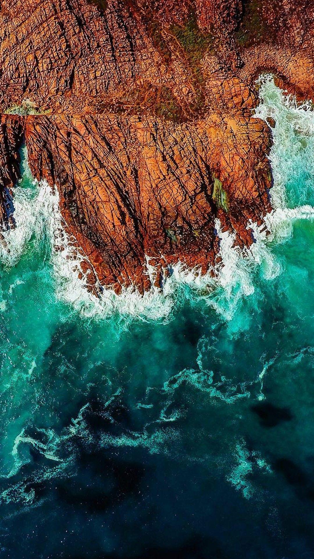 iPhone wallpaper. Ocean waves. | Graphic Design & Such em 2019 | Iphone wallpaper, S8 wallpaper ...