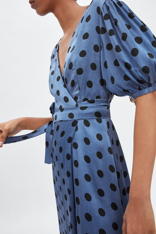 835d11a7583 Image 5 of POLKA DOT WRAP DRESS from Zara