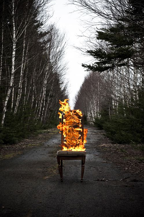 Charmant This Makes Perfect Sense. Plunk A Chair In The Middle Of A Country Road,  And Catch It On Fire. It Still Looks Cool Though.