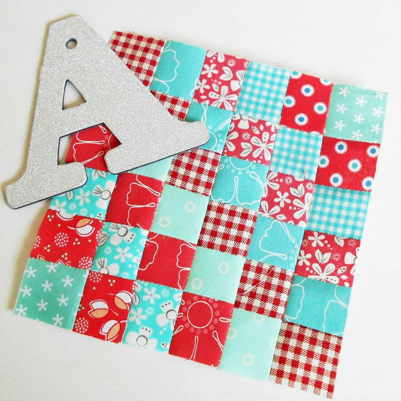 """The Splendid Sampler - Checkerboard.  A lovely patchwork block that uses up some of my pre-cut 1.5"""" squares."""