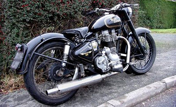 This is how my Royal Enfield will look like. A black naked single.