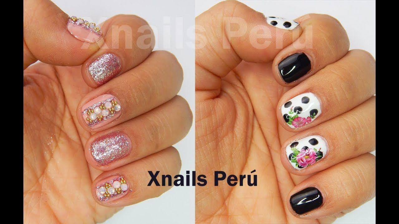 Diseños Fáciles para uñas cortas / Xnails Peru   Proyectos que ...