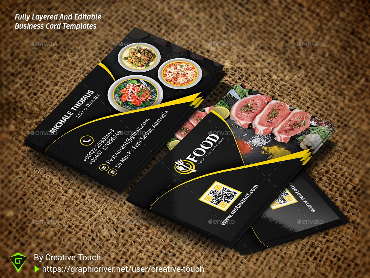 Restaurant Business Card Restaurant Business Cards Examples Of Business Cards Card Templates Free
