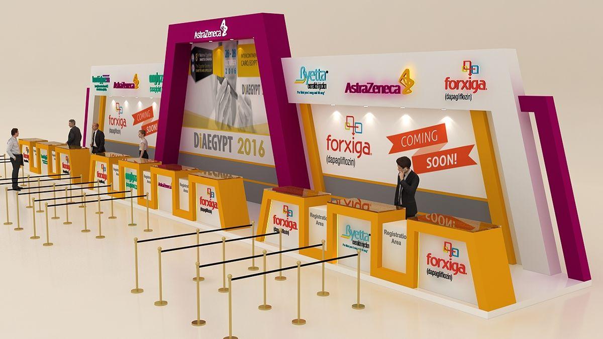 Astrazeneca Registration Desk On Behance In 2020 Exhibition Stand Design Event Registration Exhibition Booth Design