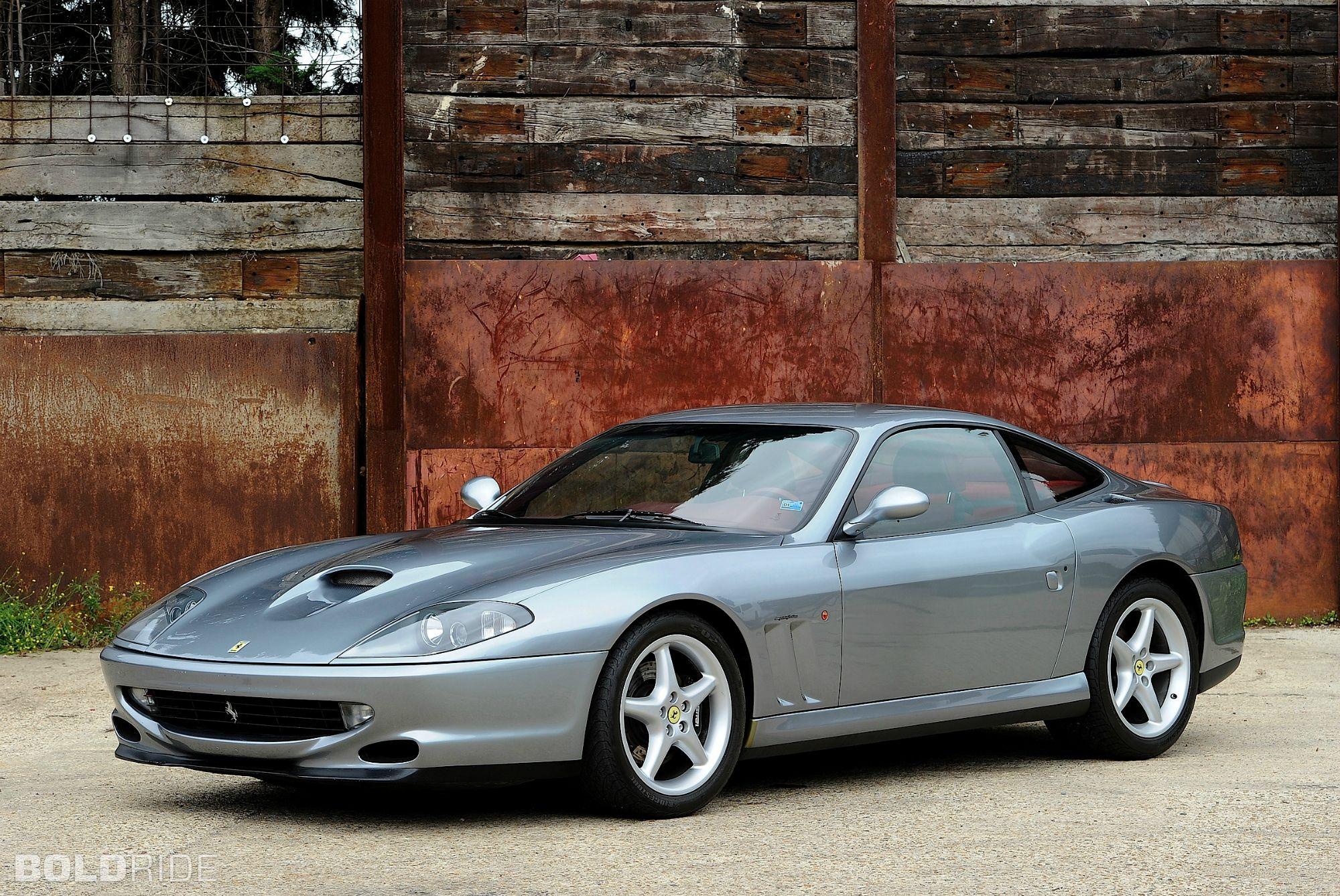 beautiful ferrari 550 maranello from 1996 - will smith drove one in