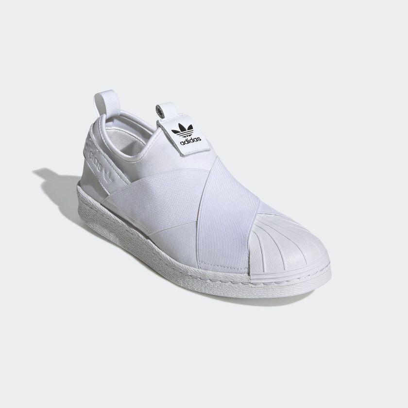 adidas superstar slip on blanche