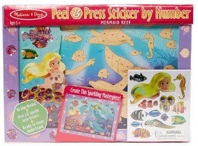 Peel Press Sticker By Number Mermaid Reef My Daughter