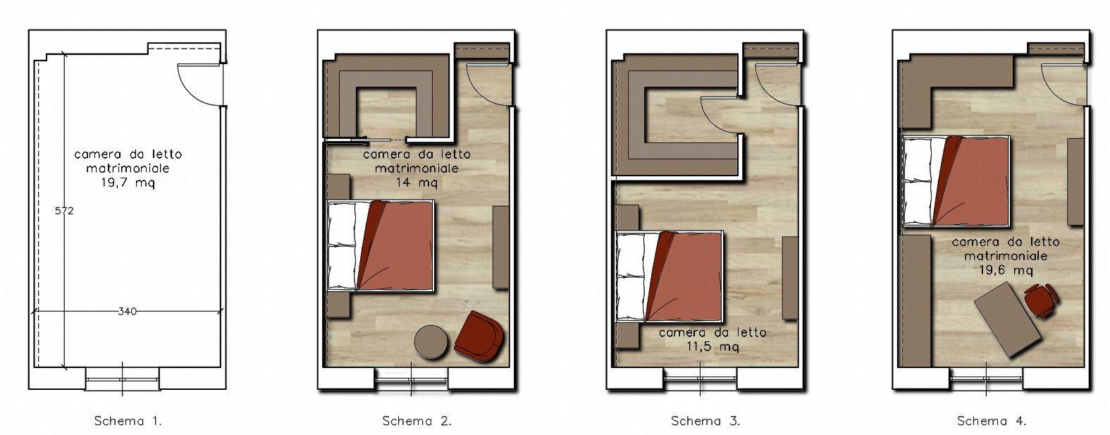 soluzioni camera matrimoniale piccola - Cerca con Google | Houses ...
