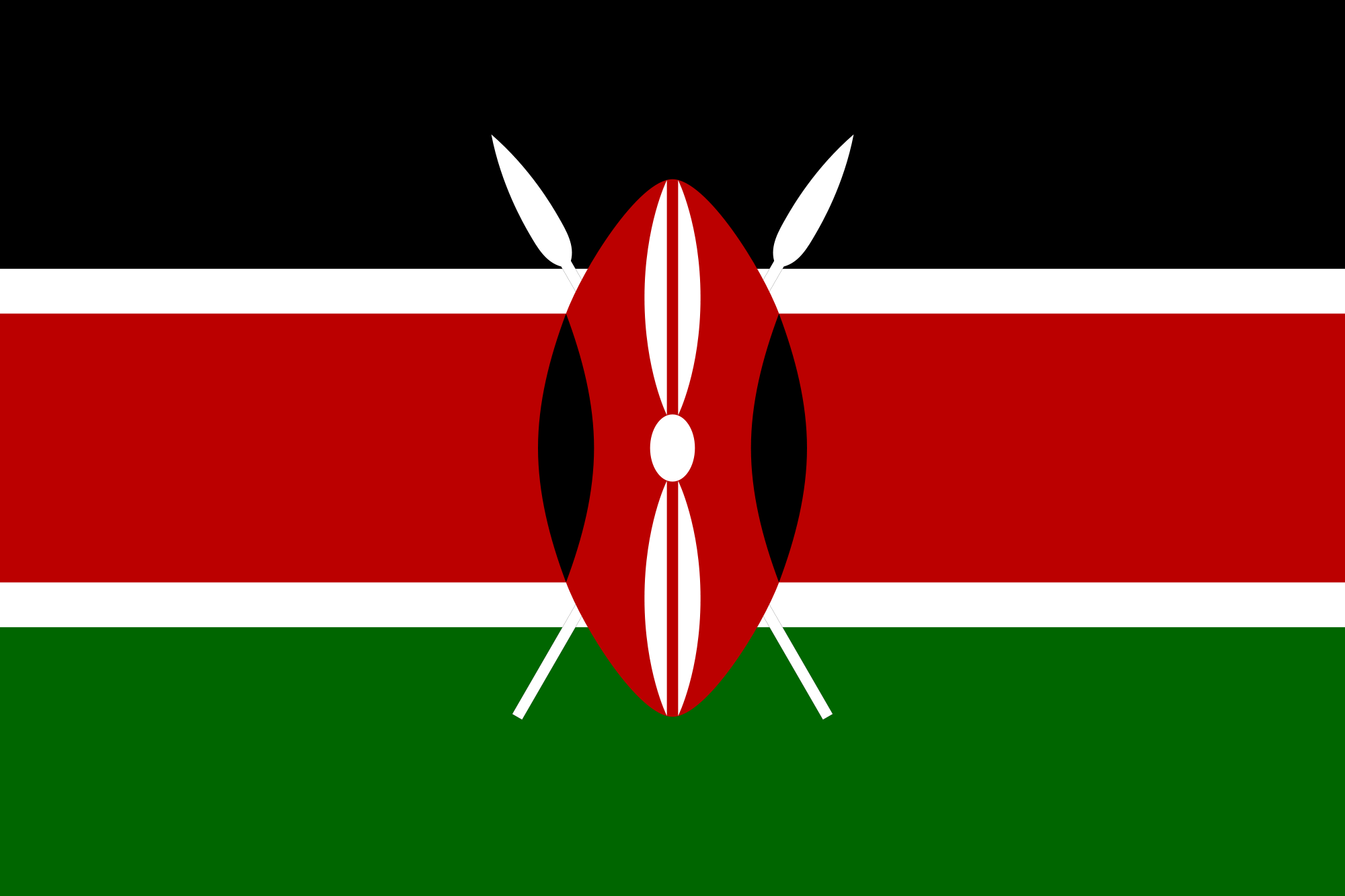 Flag of Kenya  Flags  Pinterest  Kenya and Flags