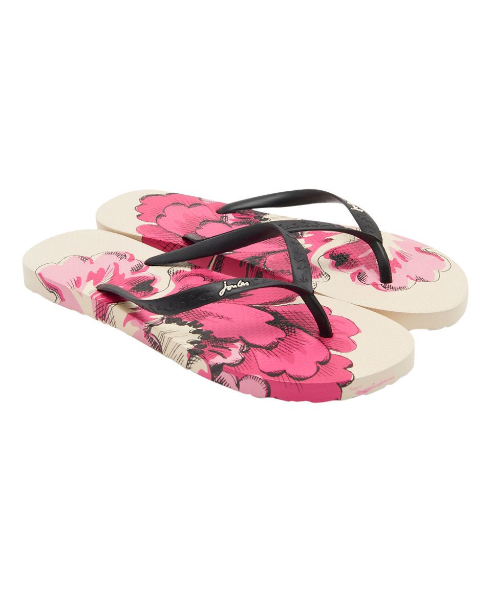 Take A Look At This Cream Floral Sandy Flip-Flop - Women -6839