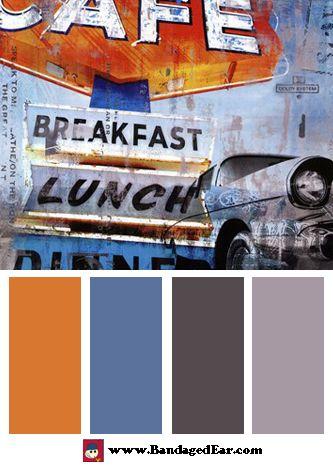Restaurant Color Palette Breakfast Cafe Mini Art Print By