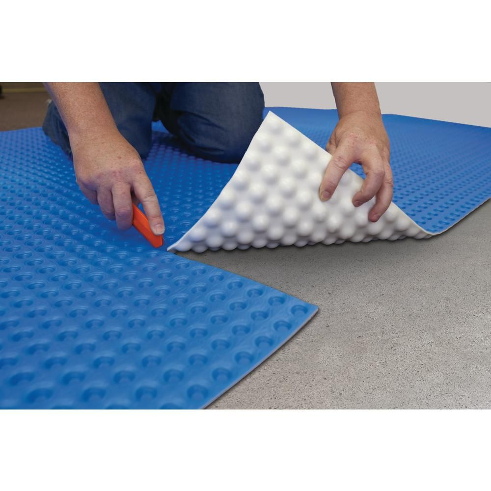 Dmx 1 Step 100 Sq Ft 3 67 Ft X 27 Ft 6 In Unique Air Gap Underlayment Prevents Mold And Mildew Dmx 1 Step The Home Depot Basement Flooring Mold And Mildew Basement Flooring Options