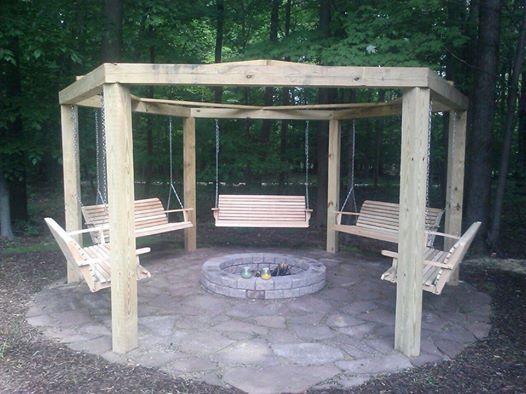 Porch swing fire pit - Porch Swing Fire Pit OUTDOOR LIVING SPACES Pinterest Fire Pit