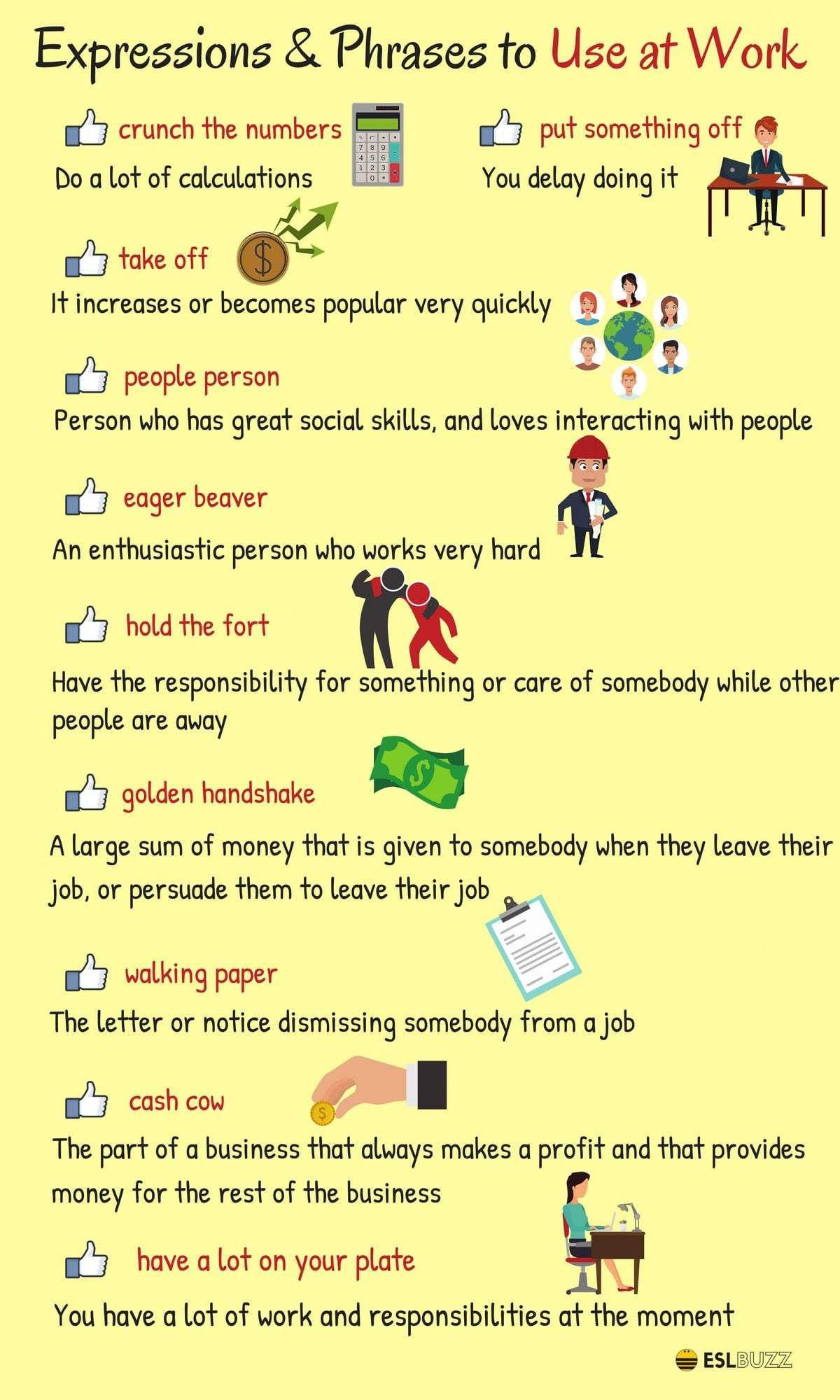 35 Useful English Words And Expressions About Work And Employment Eslbuzz Learning English English Words English Vocabulary Learn English [ 2000 x 1200 Pixel ]