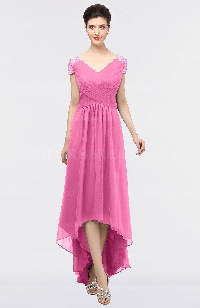 Royal blue wedding dresses plus size  ColsBM Juliana  Short sleeves Zip and Elegant