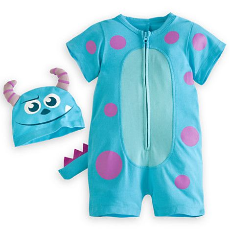 cef5e35c392 You win either way with our cute Monsters University romper. The  short-sleeve outfit has a zipper front