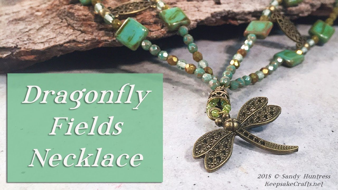 Dragonfly Fields Necklace- Shaped Beaded Multi-Strand Jewelry Design ...