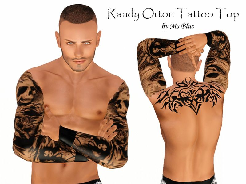 Ms Blues Randy Orton Tattoo Top Sims 3 Male Clothing