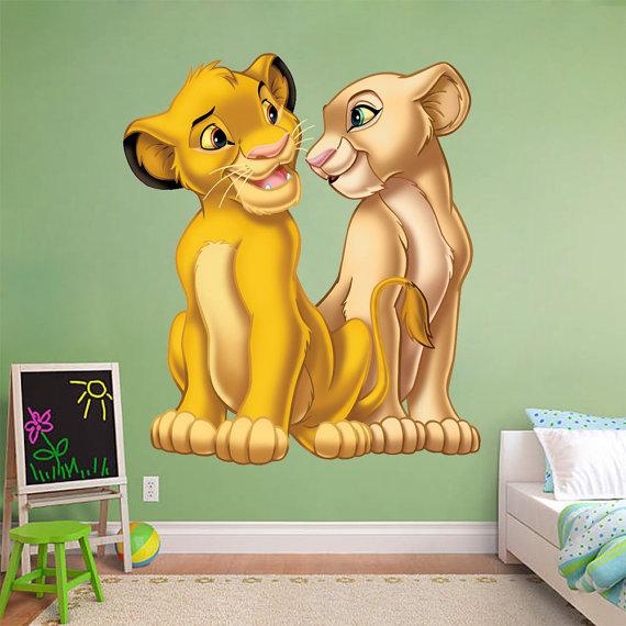 Lion King Wall Sticker Simba Nala Decal Disney Removable Home - Lion king nursery wall decals