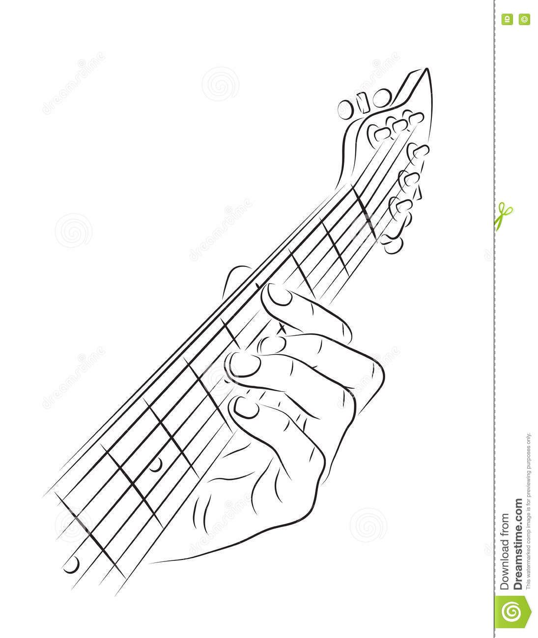 Image result for line drawings of guitar chords