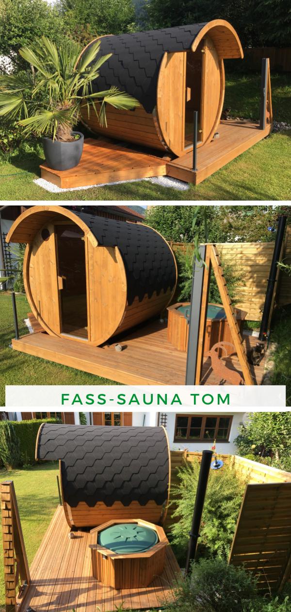 Finn Therm Fass Sauna Tom Fasssauna Saunafass Saunahaus Garten