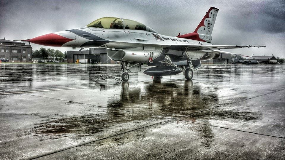 F16 Rained out, great pic Usaf