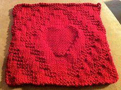 Ravelry: Diamond & Heart Dishcloth pattern by Courtney Kramer